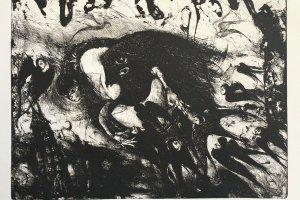 """""""Mustade lindude pealetung"""" 2019. 56 x 43 cm"""