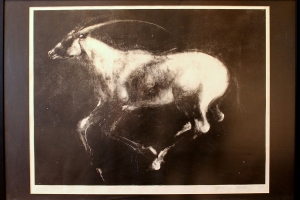 """Valge ratsu"" monotüüpia 104 x 73,5 cm, ainuke eksemplar"