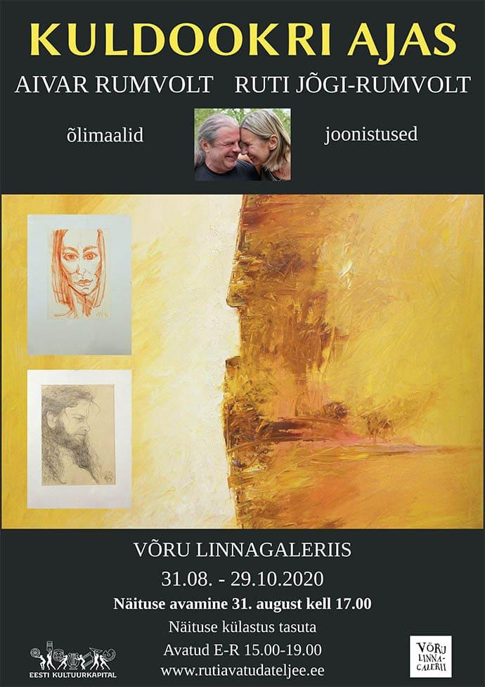 Ruti ja Aivari näituse plakat 2020 august